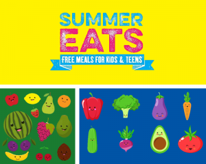 GRAPHIC WITH TEXT SAYING SUMMER EATS