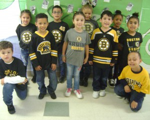 LFPA students wearing bruins clothes