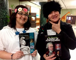 Teachers dressed as literary characters