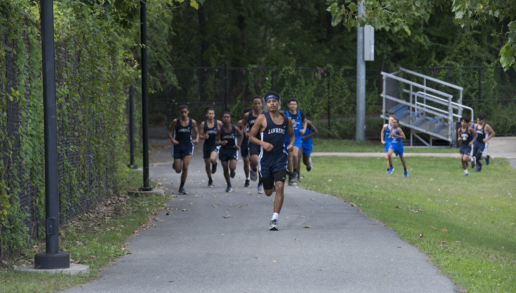 Boys Cross Country in competition