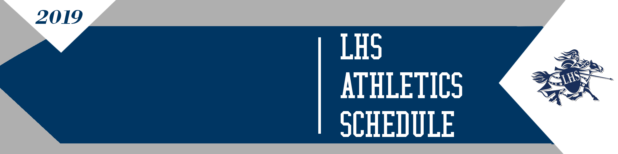 LHS Athletics Schedule with Lancer logo